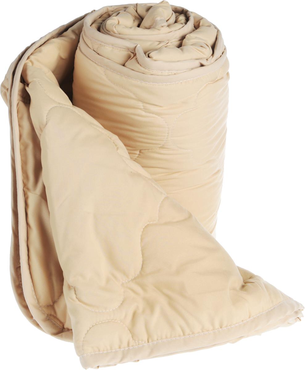 Одеяло Ecotex Овечка-Комфорт, облегченное, наполнитель: овечья шерсть, цвет: бежевый, 172 х 205 смОООК2Одеяло Ecotex пригодно для использования в переходные периоды весной и осенью, а также в качестве городского одеяла круглый год. Оно легкое, но теплое, идеально подходит для любого климата в помещении.Одеяло изготовлено из экологически чистого природного материала.Размер одеяла: 172 x 205 см.