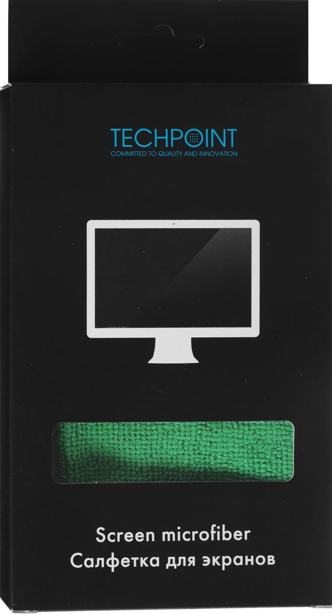 Салфетка для ухода за LCD экранами Techpoint Screen Cleaning Microfiber, 30 х 30 смRC-100TWAСалфетка Techpoint Screen Cleaning Microfiber выполнена из высококачественной микрофибры. Она идеально подходит для очистки LCD экранов, плазменных панелей. Имеет антистатический эффект.