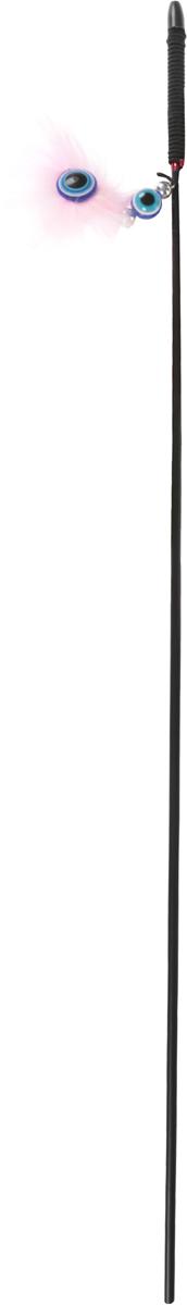 Игрушка-дразнилка для кошек GLG Талисман, цвет: черный, розовый, длина 140 смGLG028_черный, розовыйИгрушка-дразнилка для кошек GLG Талисман представляет собой пластиковую удочку, на конце которой прикреплена пушистая подвеска с декоративными пластиковыми элементами. Игрушка на резинке, хорошо пружинит и отскакивает. Игрушка поможет развить мускулатуру и реакцию кошки, а также удовлетворит ее охотничий инстинкт. Способствует балансировке нервной системы, повышению мышечного тонуса, правильному развитию скелета. Рекомендуется для совместных игр хозяина с питомцем.Общая длина изделия: 140 см.Длина удочки: 60 см.