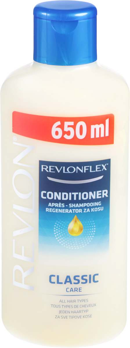 Revlon Кондиционер для всех типов волос, 650 млAC-2233_серыйКондиционер для всех типов волос Revlon Flex содержит увлажняющие вещества, которые делают ваши волосы более мягкими и упругими. Кондиционер мгновенно смягчает и распутывает волосы.Уважаемые клиенты! Обращаем ваше внимание на возможные изменения в дизайне упаковки. Качественные характеристики товара остаются неизменными. Поставка осуществляется в зависимости от наличия на складе.