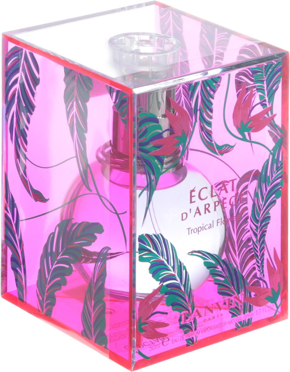 Lanvin Arpege Eclat Tropical Flower Woman Парфюмированная вода L.E, 50 млLNV30E008Петитгрейн, Зеленый чай и Персиковый цвет; ноты сердца: Пион и Сирень; ноты базы: Белый кедр и Белый мускус.