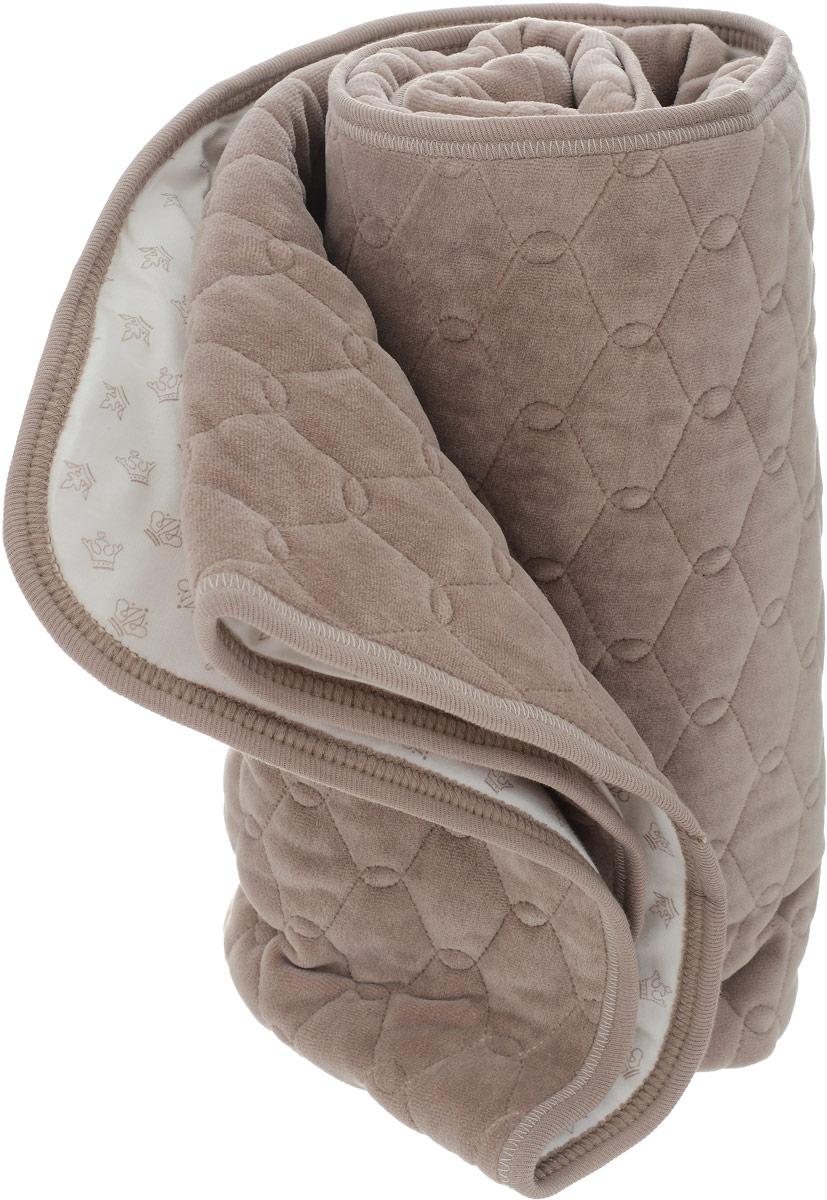 Мамуляндия Одеяло детское стеганое Маленький принц цвет серо-коричневый 90 x 100 см17-3010Утепленное стеганое одеяло Мамуляндия Маленький принц выполнено из велюра, декорировано вышивкой. Оборотная сторона отделана кулиркой нежно-розового цвета. Гипоаллергенные натуральные материалы не только превосходно сохраняют тепло и дарят уют, но и позволяют коже дышать, предотвращая опрелости. Утеплитель - Сиберия (100гр.). Мягкое и уютное одеялко согреет малыша, а благодаря своим небольшим размерам подойдет не только в детскую кроватку или колыбельку, но и в коляску.