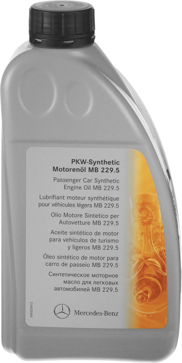 Масло моторное Mercedes-Benz MB 229.5, синтетическое, класс вязкости 5W-40, 1 лNap200 (40)Mercedes-Benz MB 229.5 – моторное масло высшего качества, изготовленное путем направленного органического синтеза и является синтетическим моторным маслом на основе полиальфаолефинов. Высокая термостабильность синтетической основы препятствует окислению масла и благодаря его свойствам, увеличивает межсервисные интервалы замены. Надежно защищает двигатель при экстремально тяжелых условиях эксплуатации.Товар сертифицирован.