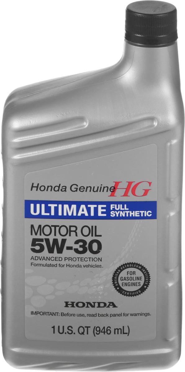Масло моторное Honda Ultimate, синтетическое, класс вязкости 5W-30, 946 мл08798-9039Моторное масло Honda Ultimate - полностью синтетическое высококачественное, всесезонное энергосберегающее моторное масло для бензиновых двигателей. Обладает выдающимися характеристиками по экономии топлива, прекрасными низкотемпературными характеристиками и высокими антиокислительными свойствами для двигателей японских автомобилей.Товар сертифицирован.