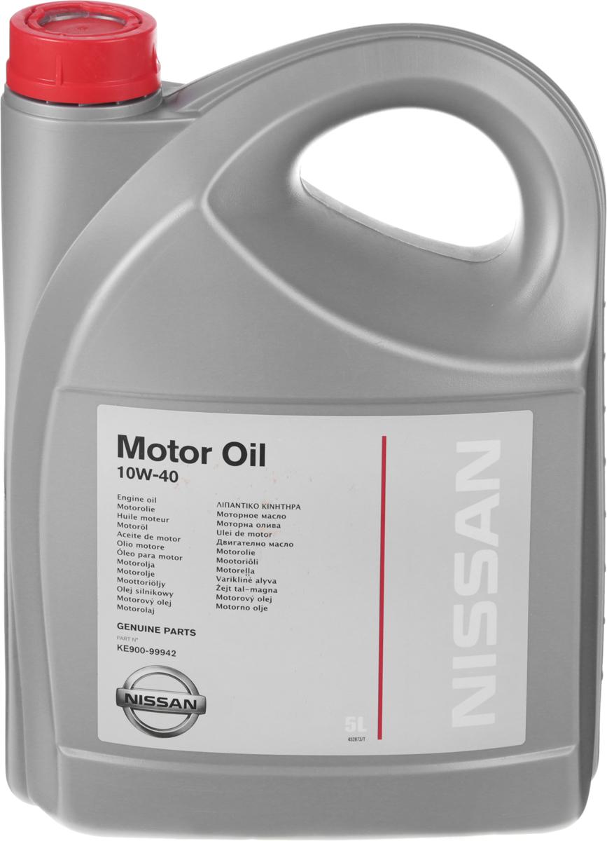 Масло моторное Nissan, полусинтетическое, класс вязкости 10W-40, 5 лKE9009-9942Моторное масло Nissan - оригинальное моторное масло для современных многоклапанных бензиновых и дизельных двигателей с гидрокомпенсаторами (включая турбированные), устанавливаемых на автомобили Nissan и Infiniti. Имеет высокие эксплуатационные характеристики, соответствующие самым строгим требованиям и стандартам компании Nissan. Сбалансированная вязкость моторного масла Nissan позволяет уменьшить износ деталей двигателя при повышенных нагрузках и гарантирует надежную защиту двигателя даже при экстремально тяжелых условиях эксплуатации. Отличная текучесть масла обеспечивает легкий пуск двигателя даже при низких температурах окружающей среды.Товар сертифицирован.