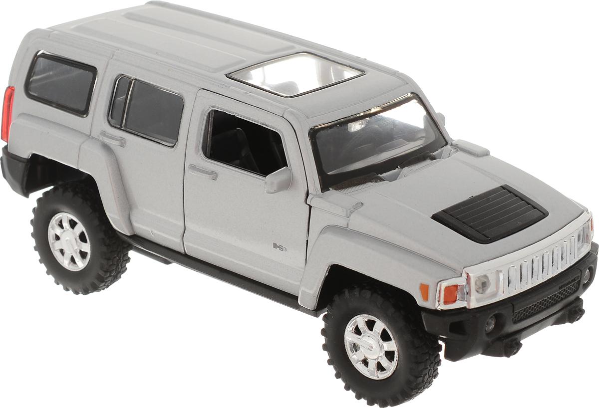 Welly Модель автомобиля Hummer H3 цвет серый welly модель автомобиля audi r8 v10 цвет красный