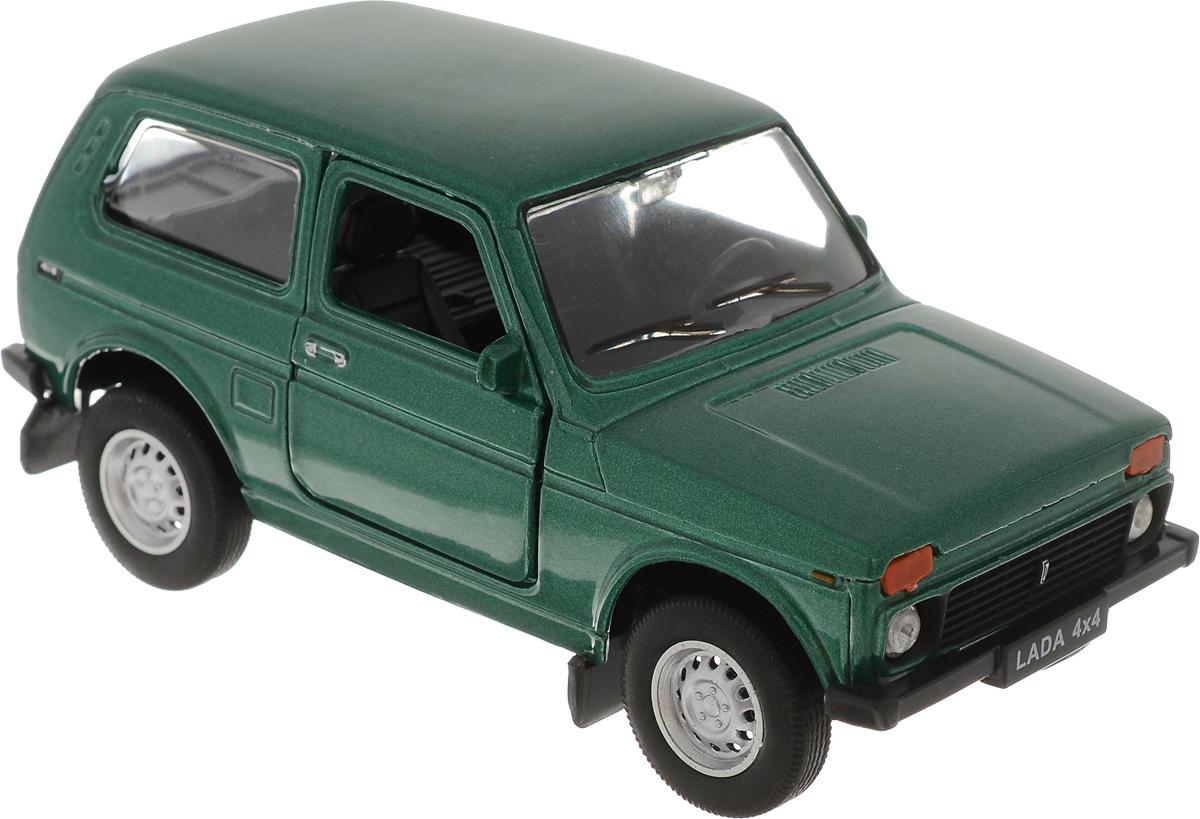 Welly Модель автомобиля LADA 4x4 цвет зеленый welly модель автомобиля audi r8 v10 цвет красный