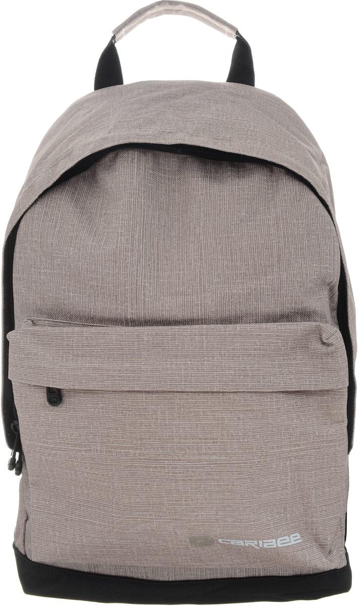 Caribee Рюкзак Campus цвет серый 6470372523WDCaribee Campus - стильный городской рюкзак, который вмещает все необходимое в течение дня.Рюкзак имеет просторное внутреннее отделение, закрывающееся на застежку-молнию с двумя бегунками. Отделение подходит для документов формата А4. На лицевой стороне рюкзака находится вместительный карман на молнии, внутри которого располагается пластиковый карабин для ключей. Лямки рюкзака можно отрегулировать в соответствии с ростом. Рюкзак оснащен текстильной ручкой для переноски в руке или подвешивания.Рюкзак изготовлен из прочного материала, легко поддающегося чистке.