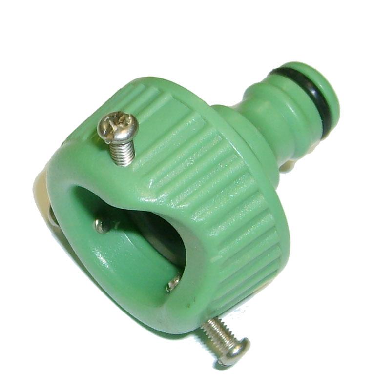 Адаптер внешний Skrab, на кран универсальный. 2826228262Внешний адаптер на кран, выполненный из ударопрочного пластика, применяется в качестве переходника между соединителем и водопроводной трубой или краном. - Уплотнительные кольца изготовлены из EPDM (этилен-пропилен-диен-метилен) резины повышенной эластичности, устойчивой к температурным и химическим воздействиям.