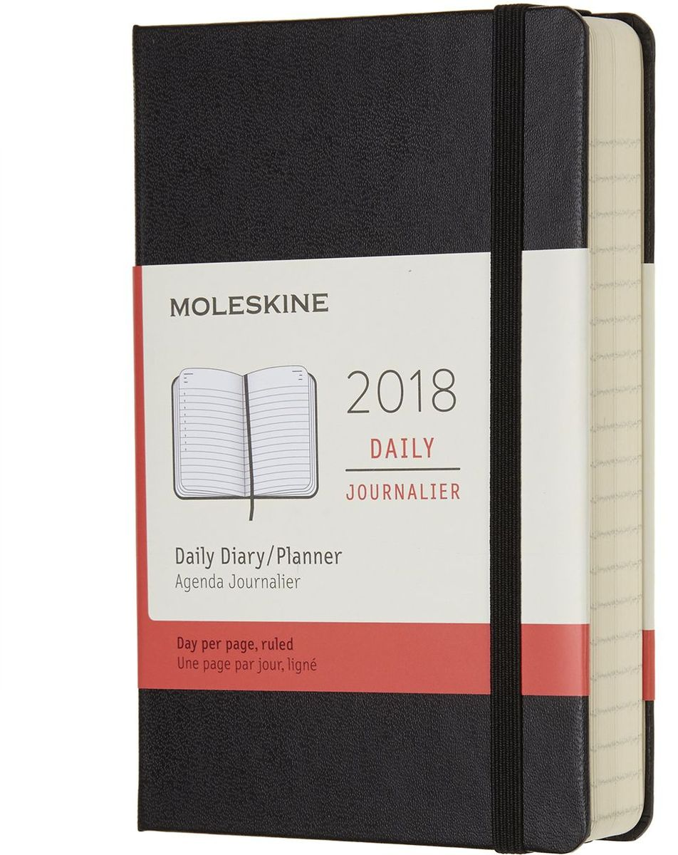 Moleskine Ежедневник Classic Daily Pocket 400 страниц цвет черный