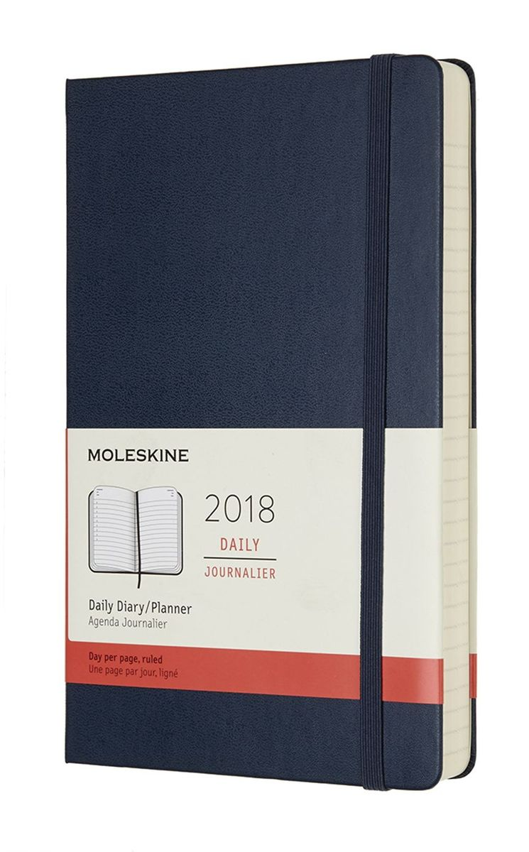Moleskine Ежедневник Classic Daily Large 400 страниц цвет синий сапфир