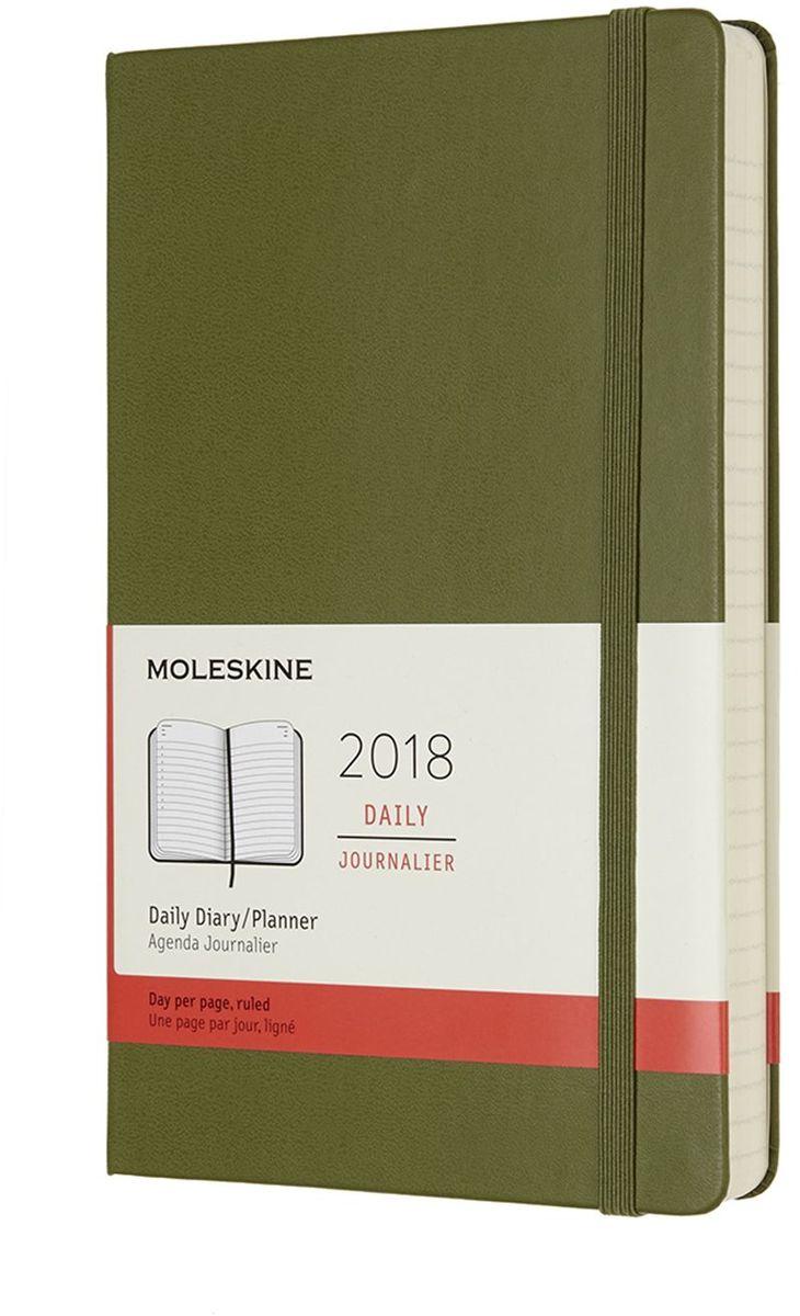 Moleskine Ежедневник Classic Daily Large 400 страниц цвет зеленый