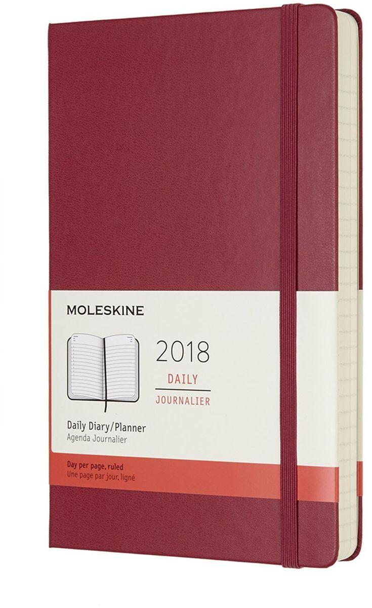 Moleskine Ежедневник Classic Daily Large 400 страниц цвет малиновый