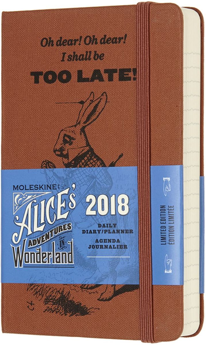 Moleskine Ежедневник карманный Alice in the Wonderland 400 страниц цвет оранжевый