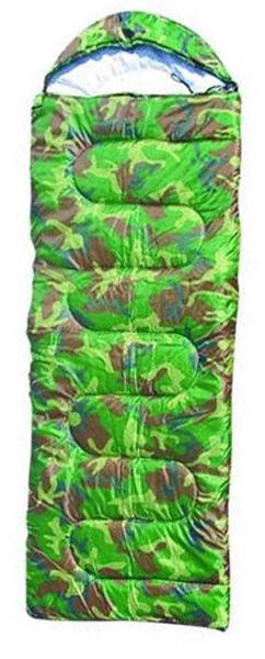 Спальник туристический Милитари, 220 х75 см, 250гр WILDMAN81-611Теплый и легкий спальник рассчитан на использование при низких температурах. Спальник выполнен из высококачественных материалов, способен надолго сохранять форму, при этом спальник достаточно плотно облегает тело. При такой конструкции любые ваши повороты во время сна не доставят дискомфорта, надежно удерживает тепло внутри спальника.