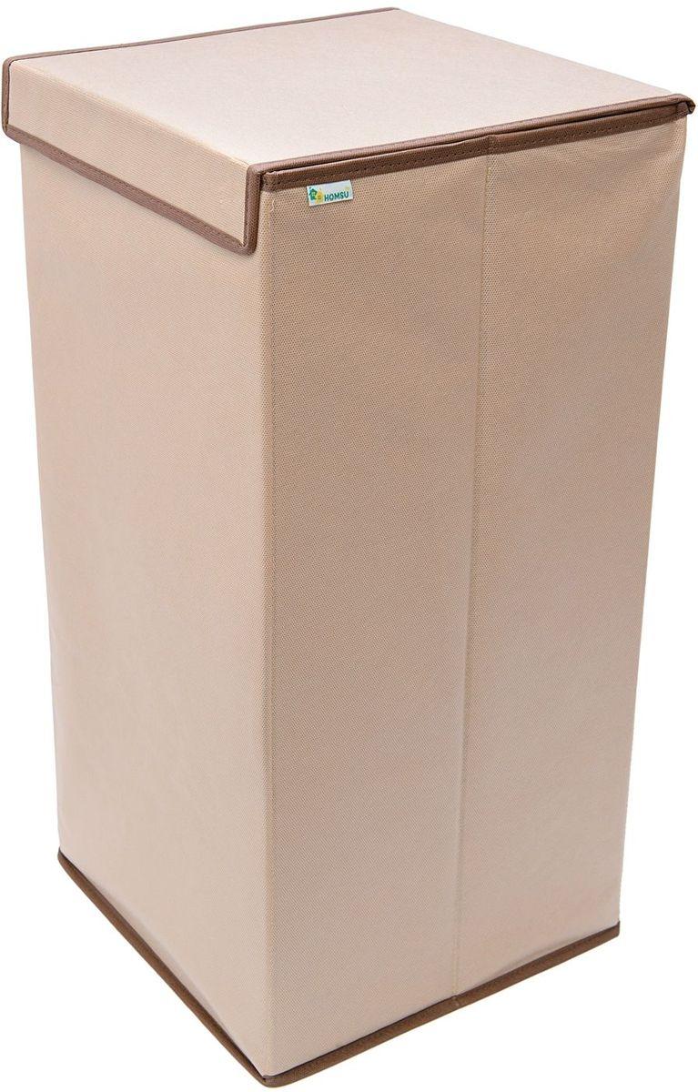 Корзина для белья Homsu, 60 x 30 x 60 смHOM-810Компактная, но вместительная корзина для белья с крышкой - оптимальный вариант для хранения белья перед стиркой. Выполнена в универсальном дизайне, благодаря чему гармонично впишется в любой интерьер.