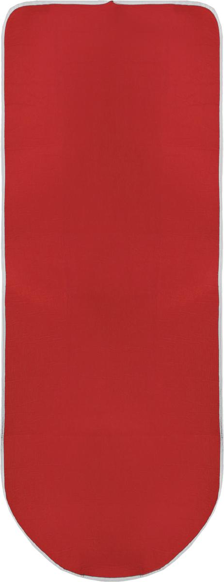 Чехол для гладильной доски Paterra, антипригарный, с поролоном, цвет: красный, 146 х 55 смGC204/30Чехол для гладильной доски Paterra, антипригарный, с поролоном, цвет: красный, 146 х 55 см