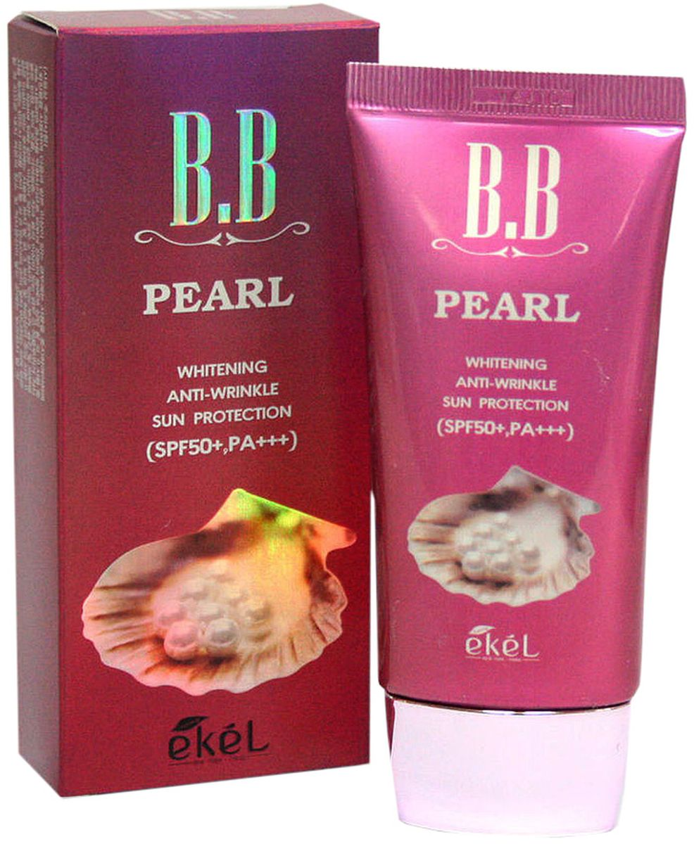 Ekel BB крем с жемчугом, 50 мл180689BB крем с жемчугом обладает антивозрастным действием и выравнивает тон кожи, осветляет пигментацию, темные круги под глазами, постакне. Подходит для любого типа кожи, в том числе чувствительной, проблемной. Обеспечивает матирующий эффект от 3-4 часов. Высокий спф-фактор 50+ обеспечивает максимальную защиту от солнца и предотвращает появление пигментации! Не содержит парабенов, искусственных красителей, минеральных масел, бензофенона. Существует в одном тоне - нейтральный бежевый, подстраивается под тон кожи.