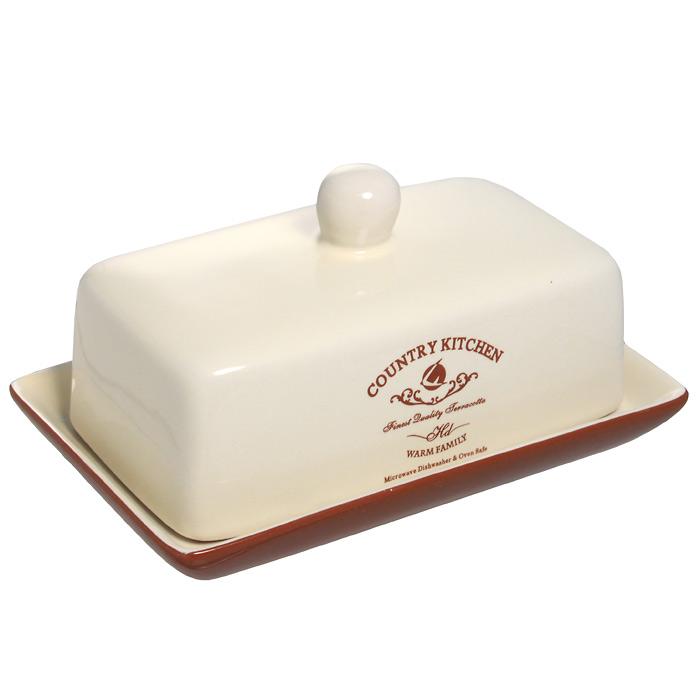 Масленка Terracotta Кухня в стиле Кантри115510Великолепная масленка Terracotta, выполненная из высококачественной керамики, предназначена для красивой сервировки и хранения масла. Она состоит из подноса и крышки. Масло в ней долго остается свежим, а при хранении в холодильнике не впитывает посторонние запахи. Масленка Terracotta идеально подойдет для сервировки стола и станет отличным подарком к любому празднику. Размер лотка: 18 х 11,7 см. Высота лотка: 2 см. Размер крышки: 15,5 х 9 х 8 см. Размер упаковки: 12,5 х 18 х 9,5 см.