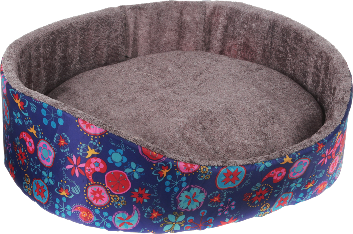Лежак для животных GLG Нежность, цвет: фиолетовый, красный, голубой, 54 х 46 х 17 см12171996Мягкий лежак GLG Нежность обязательно понравится вашему питомцу. Он выполнен из высококачественных материалов. Такие материалы не теряют своей формы долгое время.Лежак оснащен мягкой съемной подстилкой. Высокие бортики обеспечат вашему любимцу уют. Мягкий лежак станет излюбленным местом вашего питомца, подарит ему спокойный икомфортный сон, а также убережет вашу мебель от шерсти.
