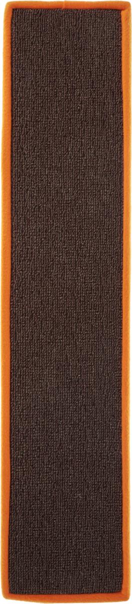 Когтеточка Грызлик Ам, с пропиткой, цвет: коричневый, оранжевый, 67 x 14 см40.GR.003_коричневый, оранжевыйКогтеточка Грызлик Ам предназначена для стачивания когтей вашей кошки и предотвращения их врастания. Изделие выполнено из ДВП и ковролина, края отделаны искусственным мехом. Изделие снабжено специальными отверстиями для крепления. Ковролин обеспечивает естественный уход за когтями питомца. Специальная пропитка привлекает внимание кошки, что позволяет сохранить неповрежденными мебель и другие предметы интерьера. Прямая когтеточка идеально подходит для крепления на стену.