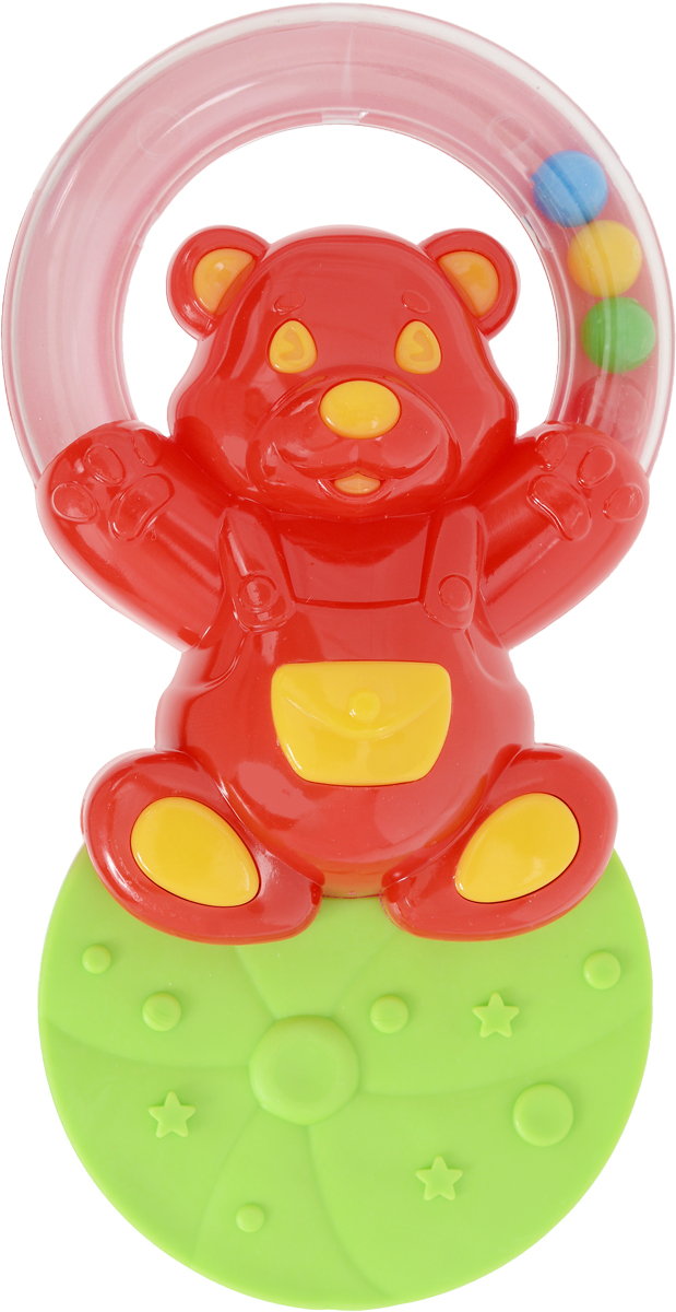 Stellar Погремушка-прорезыватель Жонглер Мишка цвет красный