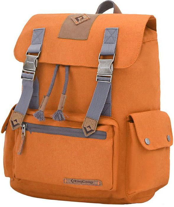 Рюкзак городской King Camp Yellowstone 15, цвет: оранжевый, 15 лУТ-000071901YELLOWSTONE 15л рюкзак для города, прогулок, учебы.Объем: 15 литровРазмеры: 35 х 28 х 11 смВес: 500 граммМатериал: полиэстер с PU покрытием, полиэстерОсобенности: одно отделение, водонепроницаемая ткань, карман для ноутбука, боковые карманы, органайзер.