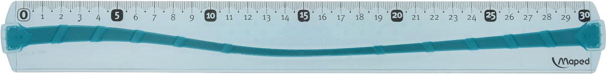 Maped Линейка цвет голубой 30 см0013801Линейка Maped используется как традиционный инструмент для черчения и рисования полей в школьных тетрадях.Изделие выполнено из небьющегося пластика (в случае использования по назначению). Градуировка нанесена УФ-чернилами, которые не сотрутся при длительном использовании.