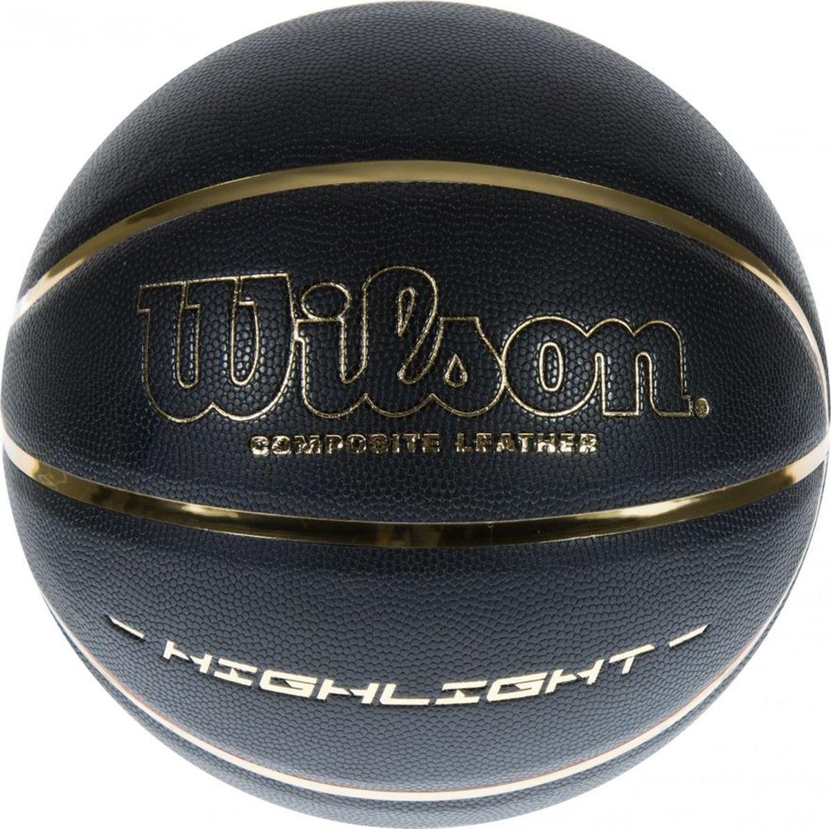 Мяч баскетбольный Wilson  Highlight , цвет: черный. Размер 7 - Баскетбол