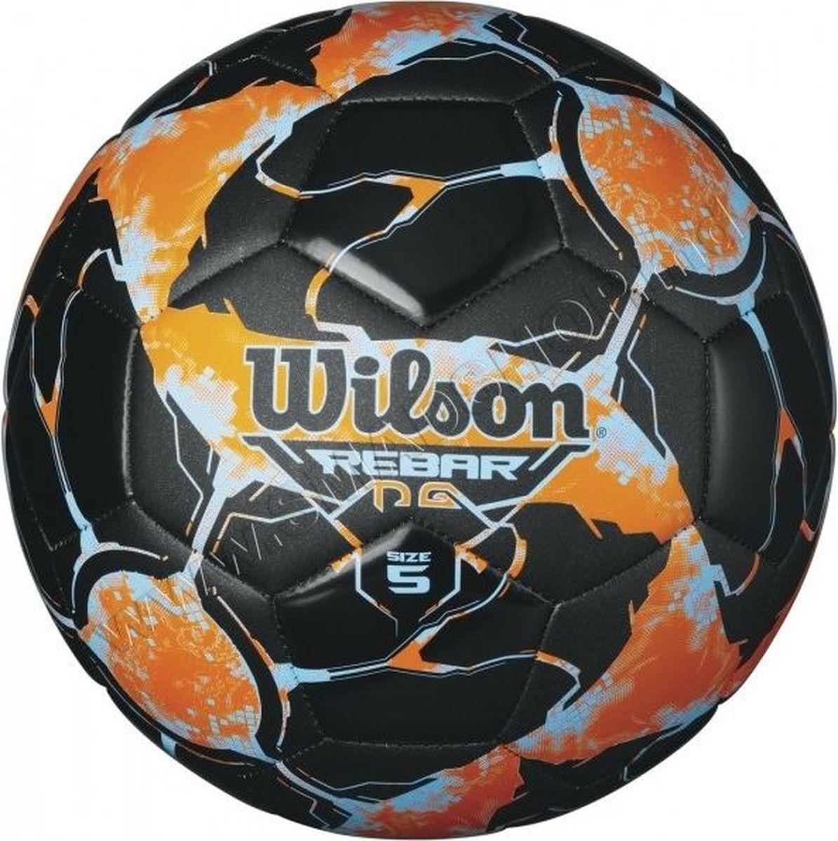 Мяч футбольный Wilson Rebar Ng, цвет: оранжевый, черный. Размер 5WTE8138XB05Футбольный мяч Wilson Rebar Ng выполнен из композитных материалов. Мяч имеет 30 панелей, сшитых вручную. Устойчив к трению и износу, подходит для игры на любых поверхностях в любых погодных условиях. Футбольный мяч Wilson Rebar Ng может выдерживать не только грунтовые поверхности, но и асфальт, он стойкий к сильным ударам, комфортный и оригинальный благодаря своему дизайну.Длина окружности: 68 см. УВАЖАЕМЫЕ КЛИЕНТЫ!Просим обратить ваше внимание на тот факт, что мяч поставляется в сдутом состоянии и надувается при помощи насоса (насос не входит в комплект).