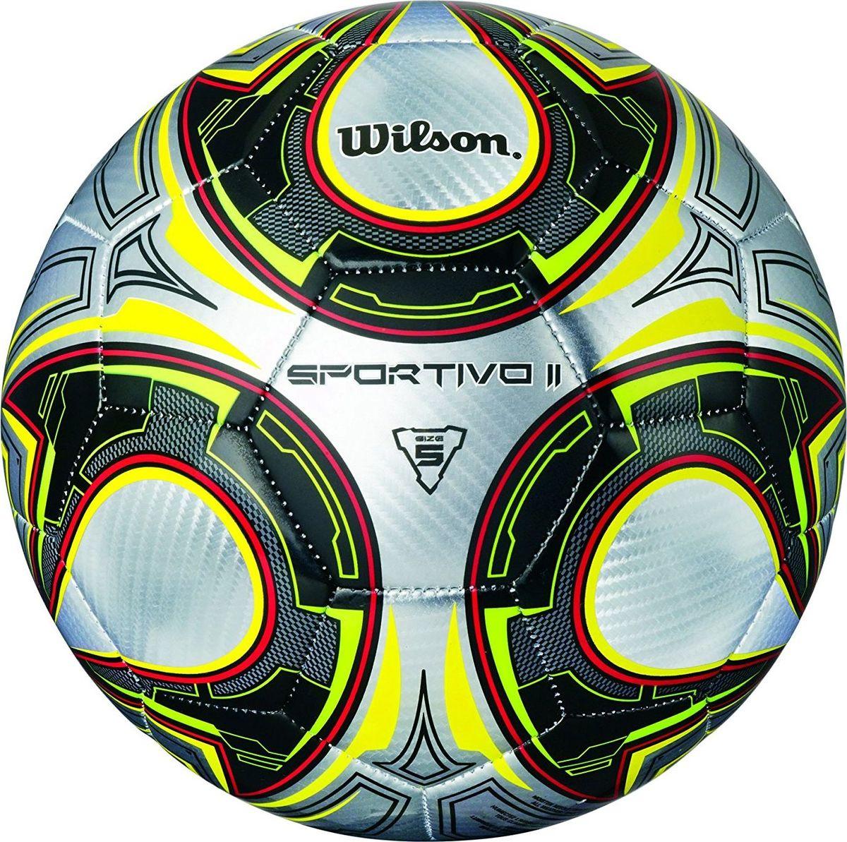 Мяч футбольный Wilson Sportivo II, цвет: черный, серый, желтый. Размер 5WTE8626XB05Футбольный мяч Wilson Sportivo II выполнен из композитных материалов. Мяч имеет 32 панели, сшитые вручную. Устойчив к трению и износу, подходит для игры на любых поверхностях в любых погодных условиях. Футбольный мяч Wilson Sportivo II может выдерживать не только грунтовые поверхности, но и асфальт, он стойкий к сильным ударам, комфортный и оригинальный благодаря своему дизайну.Длина окружности: 68 см. УВАЖАЕМЫЕ КЛИЕНТЫ!Просим обратить ваше внимание на тот факт, что мяч поставляется в сдутом состоянии и надувается при помощи насоса (насос не входит в комплект).