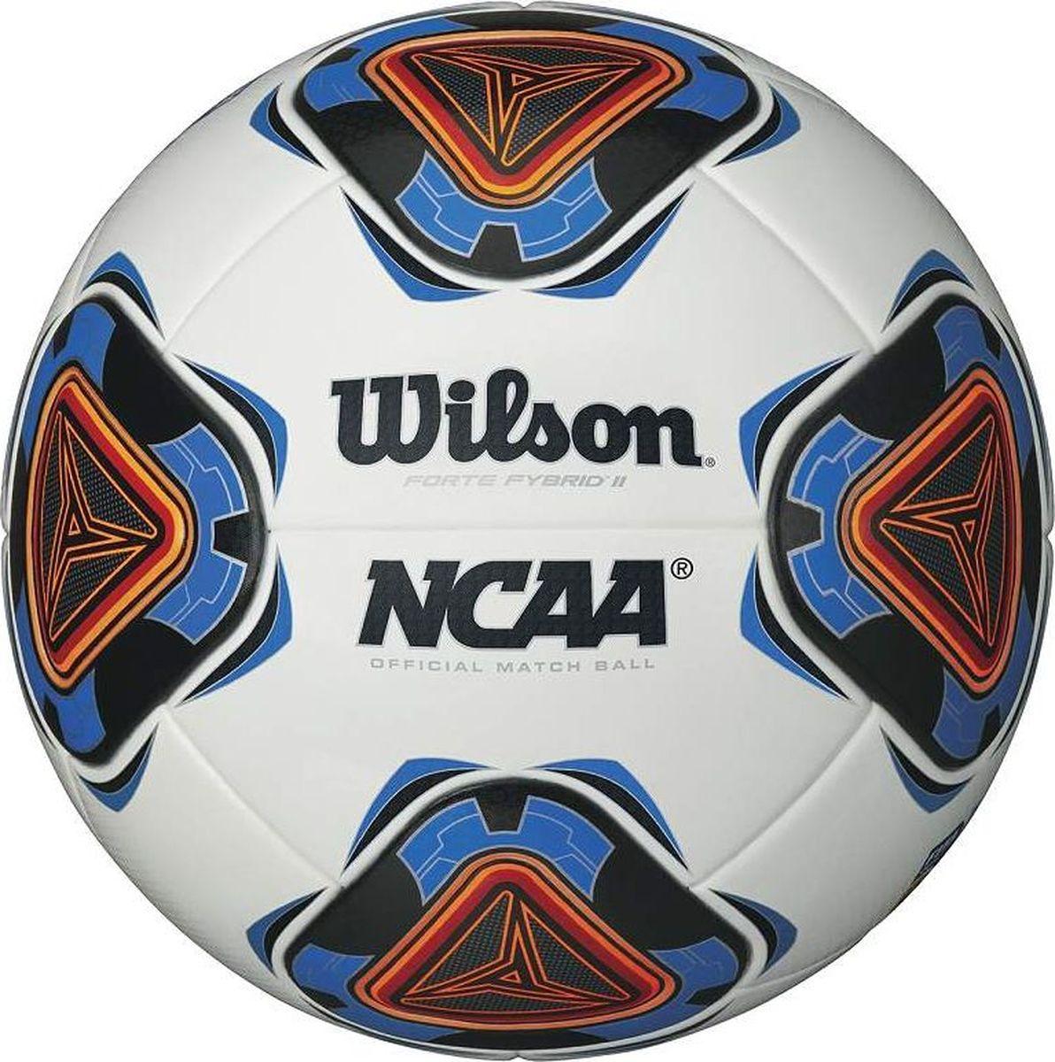 Мяч футбольный Wilson NCAA Mini Forte II WHB, цвет: синий. Размер: 5WTE9901XBЭтот мини мяч, предназначенный для официальных матчей чемпионата Forte FYbrid II NCAA. Он не просто милый и симпатичный, но и один из самых популярных мячей, используемых на тренировках крученых мячей.