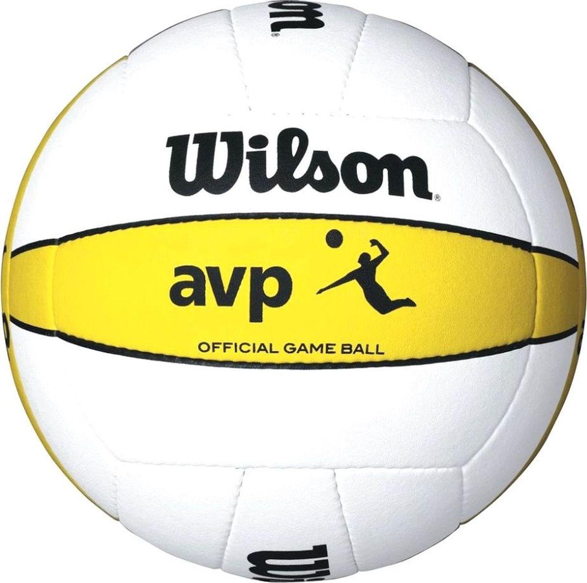 Мяч волейбольный Wilson AVP Official Game Ball, цвет: белый324214Официальный мяч профессиональной лиги пляжного волейбола. Преимум дизайн, лучшее вращение. Преимальная микро фибра и кожа создают невероятные ощущения мягкости при касании. 18-панельный, ручная работа. Создан по высшим стандартам.