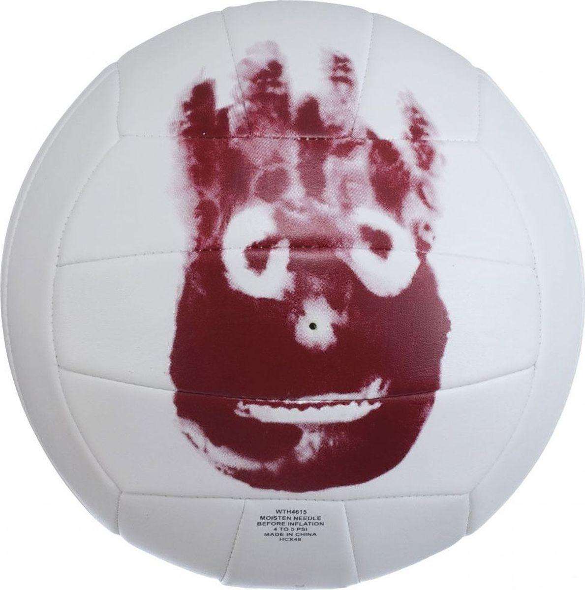"""Мяч волейбольный Wilson """"Cast Away"""", цвет: белый, красный, диаметр 20 см"""
