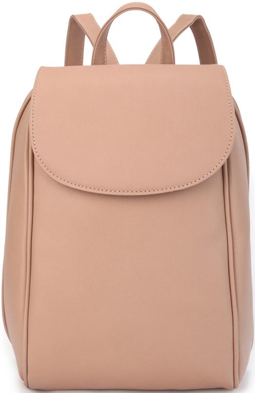 Рюкзак женский OrsOro, цвет: бежевый. D-451/223008Женский рюкзак OrsOro с клапаном выполнен из искусственной кожи высокого качества. Рюкзак имеет одно отделение, закрывается на молнию. Внутри располагаются карман на молнии, карман для телефона и накладной карман на молнии.Снаружи имеется внешний карман на задний стенке на молнии и передний карман.Рюкзак обладает удобной ручкой и двумя регулируемыми плечевыми лямками.