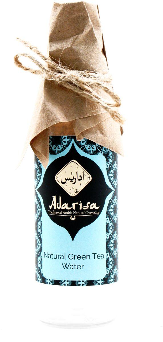 Adarisa Гидролат зеленого чая, 100 млADAR0114Гидролат зеленого чая (латинское название - Camellia Sinensis) - уникальное средство, которое получается методом дистилляции подсушенных листьев такого растения, как камелия китайская. В результате образуется целебная вода с характерным терпким запахом. Не секрет, что в листьях зеленого чая немало ценнейших веществ, пользу которых действительно трудно переоценить. Это и флавониды, и различные смолы, и нуклеопротеиды, а также железо и марганец. Зеленый час также содержит кофеин, теофиллин, курмарин и небывалое количество витаминов (рибофлавин, филлохинон, пиридоксин) и полезных кислот, среди которых никотиновая, аскорбиновая и пантотеновая кислота.Целая плеяда важнейщих свойств обуславливает ценность гидролата зеленого чая как эффективного лечебного средства. Оно обладает:• антиоксидантными,• тонизирующими, • стимулирующими,• регенерирующими,• успокаивающими, • противоотечными, • вяжущими,• противовоспалительными свойствами.Косметическое действиеГидролат зеленого чая великолепно справляется с такими трудными задачами, как старение и увядание кожи, повышая ее тонус за счет колоссального количества полезных микроэлементов в своем составе. Это также самый настоящий природный антиоксидант, встающий на защиту эпителия от пагубного действия свободных радикалов.Хорошо известны и реанимирующие способности зеленого чая. Если необходимо справиться с отеками, раздражениями и покраснениями кожи, доверьтесь средству с этой живой водой.Гидролату зеленого чая под силу улучшить состояние абсолютно любого типа кожи. Он отлично увлажняет эпителий, питая его витаминами и активными веществами. Уже один такой компонент, как кофеин, суперэффективно влияет на микроциркуляцию крови, активизируя процесс более быстрого клеточного восстановления. Результат – здоровый цвет лица и сияющая красотой кожа.Помимо благотворного влияния на лицо, гидролат зеленого чая оказывает идентичное действие на тело. Его можно смешивать с любимой маской, сывороткой или