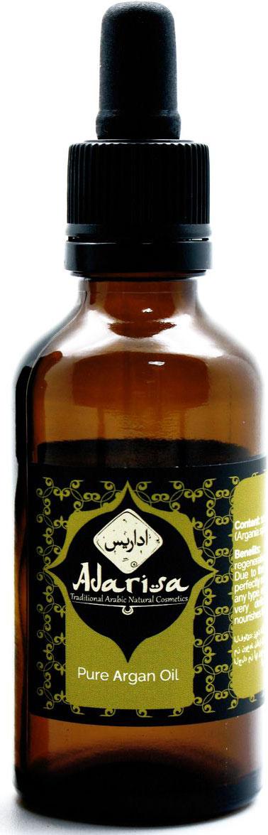 Adarisa Аргановое масло, 50 млADAR0154Натуральное масло арганы высшего качества получают из плодов ореха одноименного дерева аргании (Argania spinosa). Данное растение произрастает в основном на Африканском континенте. Безусловно наибольшую славу получило органическое аргановое масло из Марокко. Дело в том, что данная страна, а именно ее географическое расположение, сочетает в себе идеальные климатические условия. Обласканные прохладным бризом с Атлантики, согретые жарким солнцем Африки и взращенные на плодовитой, но сухой земле, аргановые деревья растут и плодоносят более 2500 лет.Натуральное аргановое масло безусловно получают только методом холодного прессования орехов аргании. Масло, не прошедшее дополнительных стадий обработки является девственным, нерафинированным. Именно оно содержит в своей структуре максимальное количество незаменимых жирных кислот.СвойстваКупить масло арганы в Москве хочет практически каждая женщина. Такая популярность данного продукта обусловлена сильным реконструирующими и регенерирующими свойствами масла. Вы с успехом можете применять его для ухода как за волосами, так и для лица.Отличительной особенностью масла арганы отзывы о котором столь восторженны, является то, что 80% входящих в его состав жирных кислот, являются ненасыщенными. Именно они и определяют столь высокую проникающую способность его структуры. Благодаря высокому проникновению и легкой структуре, аргановое масло используют в чистом виде на кожу вокруг глаз.Возможно, ознакомившись с прекрасными косметическими и питательными свойствами, вы зададитесь вопросом Где купить аргановое масло?. Напоследок, еще одним преимуществом данного продукта является его высокая стойкость к прогорканию (окислению), которая превосходит даже оливковое масло.Масло арганы для волосБольше всего используют женщины аргановое масло для волос. Оно является восстанавливающей сывороткой и живительным эликсиром для сухих, пористых, ослабленных и поврежденных прядей. Заполняя полые участки, масло арганы 