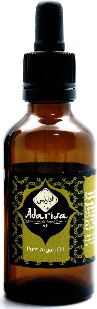 Adarisa Аргановое масло, 100 млADAR0146Натуральное масло арганы высшего качества получают из плодов ореха одноименного дерева аргании (Argania spinosa). Данное растение произрастает в основном на Африканском континенте. Безусловно наибольшую славу получило органическое аргановое масло из Марокко. Дело в том, что данная страна, а именно ее географическое расположение, сочетает в себе идеальные климатические условия. Обласканные прохладным бризом с Атлантики, согретые жарким солнцем Африки и взращенные на плодовитой, но сухой земле, аргановые деревья растут и плодоносят более 2500 лет.Натуральное аргановое масло безусловно получают только методом холодного прессования орехов аргании. Масло, не прошедшее дополнительных стадий обработки является девственным, нерафинированным. Именно оно содержит в своей структуре максимальное количество незаменимых жирных кислот.СвойстваКупить масло арганы в Москве хочет практически каждая женщина. Такая популярность данного продукта обусловлена сильным реконструирующими и регенерирующими свойствами масла. Вы с успехом можете применять его для ухода как за волосами, так и для лица.Отличительной особенностью масла арганы отзывы о котором столь восторженны, является то, что 80% входящих в его состав жирных кислот, являются ненасыщенными. Именно они и определяют столь высокую проникающую способность его структуры. Благодаря высокому проникновению и легкой структуре, аргановое масло используют в чистом виде на кожу вокруг глаз.Возможно, ознакомившись с прекрасными косметическими и питательными свойствами, вы зададитесь вопросом Где купить аргановое масло?. Напоследок, еще одним преимуществом данного продукта является его высокая стойкость к прогорканию (окислению), которая превосходит даже оливковое масло.Масло арганы для волосБольше всего используют женщины аргановое масло для волос. Оно является восстанавливающей сывороткой и живительным эликсиром для сухих, пористых, ослабленных и поврежденных прядей. Заполняя полые участки, масло арганы