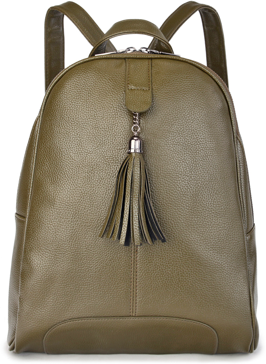 Рюкзак женский OrsOro, цвет: зеленый. D-441/3L39845800Женский рюкзак OrsOro выполнен из искусственной кожи высокого качества. Рюкзак имеет одно отделение, закрывается на молнию. Внутри присутствует карман-перегородка на молнии.Снаружи имеется внешний карман на задней стенке на молнии. Передняя стенка украшена декоративной кисточкой-бахромой.Рюкзак обладает удобной ручкой и двумя регулируемыми плечевыми лямками.