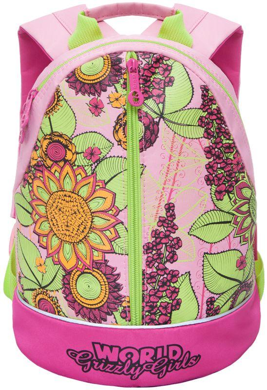 Grizzly Рюкзак дошкольный цвет розовый RS-665-3/2RS-665-3/2Рюкзак малый, одно отделение, карман на молнии на передней стенке, укрепленная спинка, дополнительная ручка-петля, укрепленные лямки, светоотражающие элементы с четырех сторон