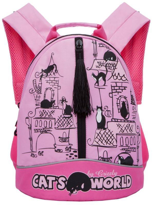 Grizzly Рюкзак дошкольный цвет розовый RS-759-1/1730396Рюкзак малый, одно отделение, карман на молнии на передней стенке, укрепленная спинка, дополнительная ручка-петля, укрепленные лямки, светоотражающие элементы с четырех сторон