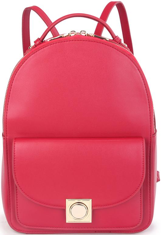 Рюкзак женский OrsOro, цвет: красный. D-429/2205065-001Женский рюкзак OrsOro выполнен из искусственной кожи высокого качества. Рюкзак имеет одно вместительное отделение на молнии. В отделении присутствуют внутренний карман на молнии в окантовке, внутренний карман для телефона с окантовкой.Рюкзак обладает удобной ручкой сверху для переноски и двумя регулируемыми плечевыми лямками.