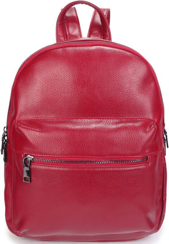 Рюкзак женский OrsOro, цвет: красный. D-448/323008Женский рюкзак OrsOro выполнен из искусственной кожи высокого качества. Рюкзак имеет два отделения, закрывается на металлическую молнию. Внутри располагаются карман в основном отделении на молнии, а во втором отделении карман для телефона с окантовкой..Снаружи имеются внешний накладной карман на передней стенке и внешний карман на задней стенке.Рюкзак обладает удобной ручкой и двумя регулируемыми плечевыми лямками.