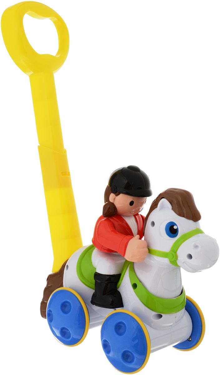 Keenway Игрушка-каталка Жокей на лошадке цвет белый, Dongguan Keenway Metal & Plastic Toys Co. Ltd