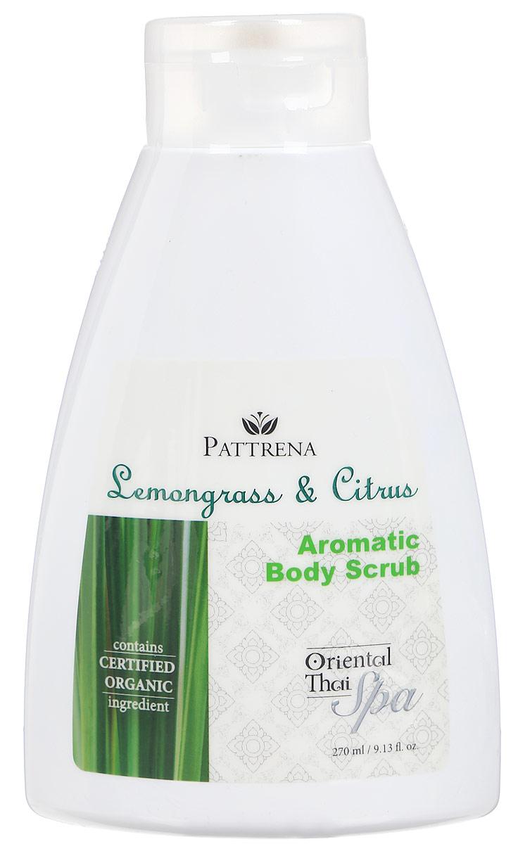 Pattrena Спа-скраб для тела Паттрена восточный тайский ароматный Лемонграсс и Цитрус, 270 мл61251Скраб для тела с натуральными питательными ингредиентами – скорлупа грецкого ореха, удаляет омертвевшие клетки, придавая дополнительное питание коже. Скраб сочетает в себе увлажняющие эффекты Лемонграсса, Лимона. Аргановое масло питает кожу, делая ее мягкой, не высушивая кожу. Обладает утонченным ароматом в сочетании Цитруса и Лемонграсса , придает ощущение свежести и расслабленности.