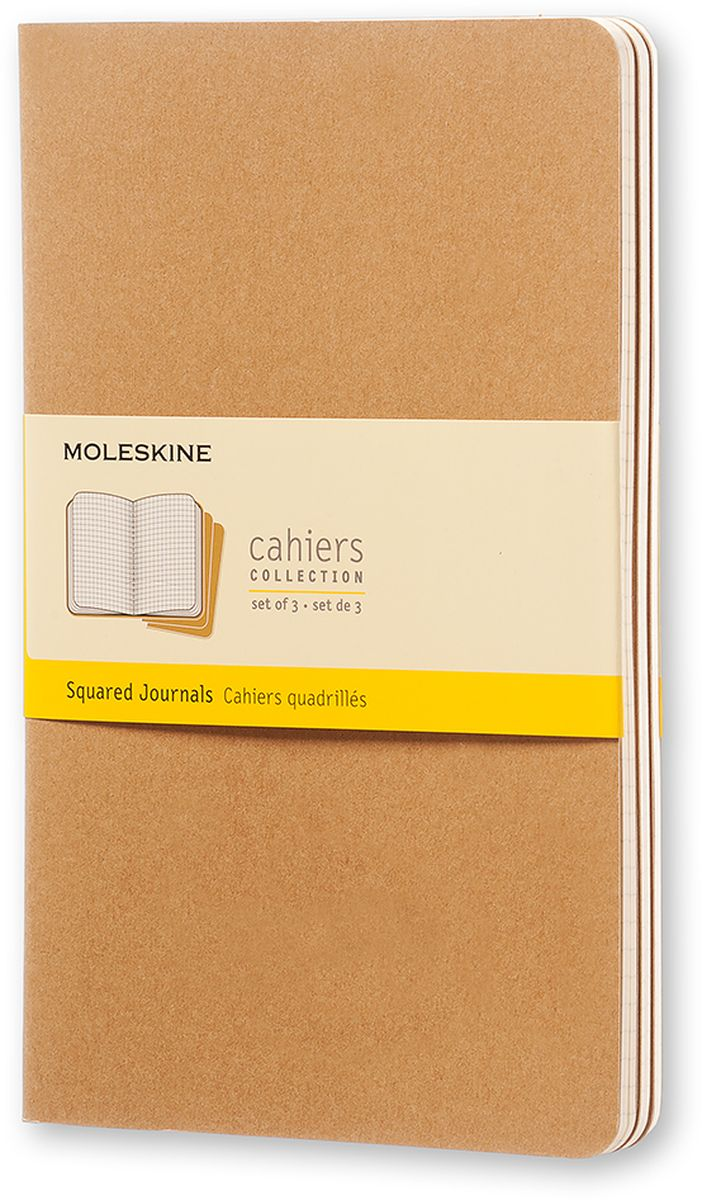 Moleskine Набор блокнотов Cahier Journal Large 40 листов в клетку цвет бежевый 3 шт -  Ежедневники, блокноты, записные книжки