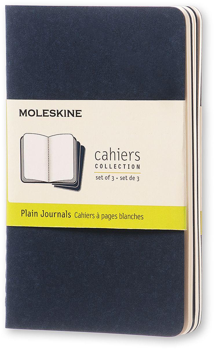 Moleskine Набор блокнотов Cahier Journal Pocket 32 листа без разметки цвет темно-синий 3 штCH213Набор блокнотов Moleskine Cahier Journal Pocket отличаются гибкой и прочной картонной обложкой и хорошо заметной прошивкой на корешке. Внутренний блок состоит из 32 листов бумаги без разметки, последние 16 листов отделяются. Есть карман для заметок на отдельных листах. В набор из 3 штук вложена открытка с историей Moleskine.