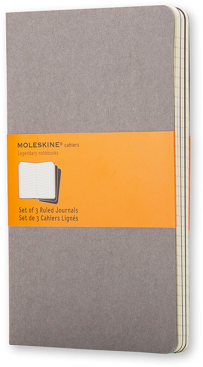 Moleskine Набор блокнотов Cahier Journal Large 40 листов в линейку цвет серый 3 шт -  Ежедневники, блокноты, записные книжки