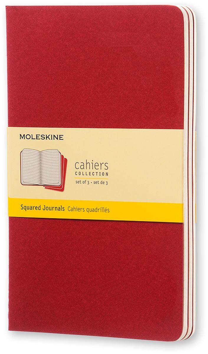 Moleskine Набор блокнотов Cahier Journal Large 40 листов в клетку цвет клюквенный 3 шт -  Ежедневники, блокноты, записные книжки