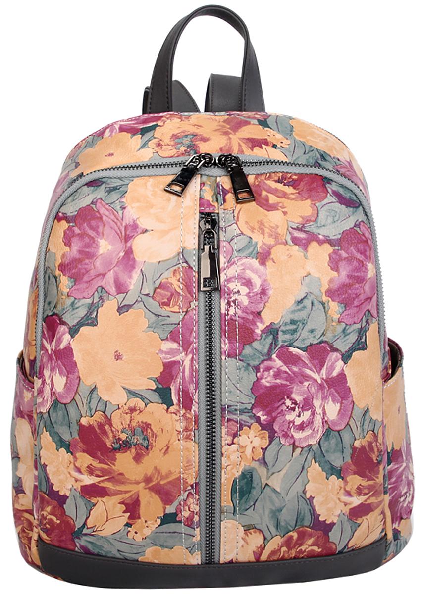 Рюкзак женский OrsOro, цвет: розовый, темно-бежевый. D-442/7L39845800Женский рюкзак OrsOro выполнен из искусственной кожи высокого качества. Рюкзак имеет два отделения, закрывается на молнию. Внутри в первом отделении присутствует карман для телефона с окантовкой, в основном отделении карман на молнии.Снаружи имеется внешний вертикальный карман на металлической молнии на передней стенке и внешний вертикальный карман на молнии на задней стенке.Рюкзак обладает удобной ручкой и двумя регулируемыми плечевыми лямками.